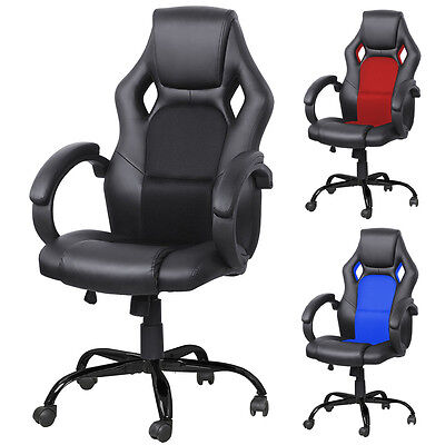 Modern High Back Sport Racing Car 360 Degree Adjustable Seat Office Desk Chair