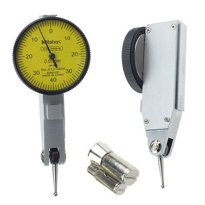 New Dial Gauge 0-0.8mm Lever Test Indicator Metric with Dovetail Rails 0.01mm