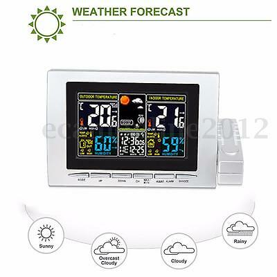 Digital LCD Wireless Weather Station Clock Calendar Hygrometer Thermometer Meter