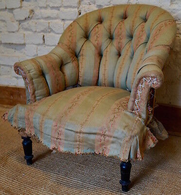 Antique French Louis Philippe Tub Chair inc. Reupholstery (exc. Fabric)