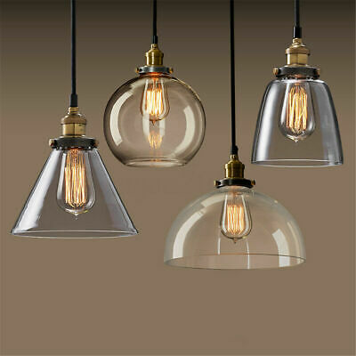 Modern Vintage Ceiling Light Crystal Glass Pendant Chandelier Fixture Lamp Shade