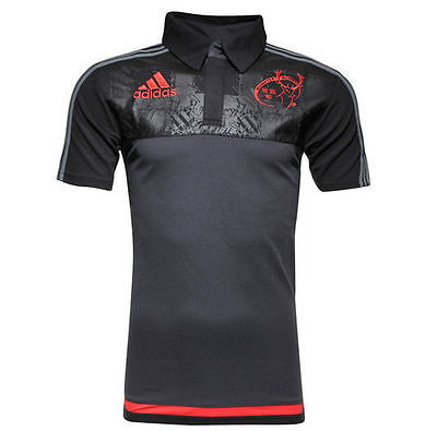 2015-16 Munster adidas Rugby Players Media Polo Shirt Top *BNIB* (ALL SIZES)