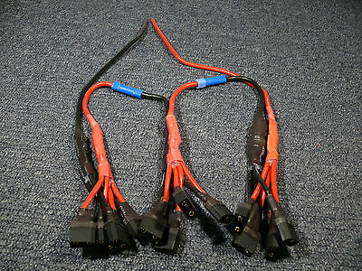 High Power LiPo wiring harness 4x parrallel XT90, HXT4mm, 5.5mm - 200Amp capable
