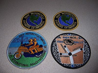 VTG BMW MOTORCYCLE OWNERS of AMERICA CLUB PATCH LOT