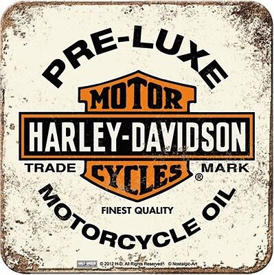 Harley Davidson Pre-Luxe (pale) cork backed drinks mat / coaster (na)