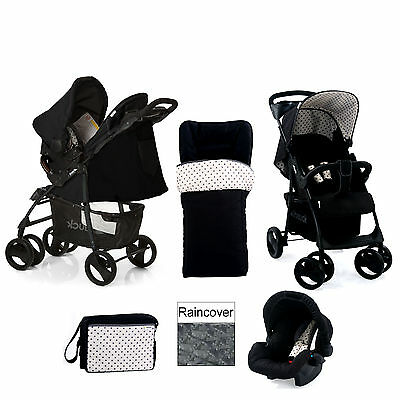 New Hauck Shopper Shop N Drive Travel System And Accessories Black Dots