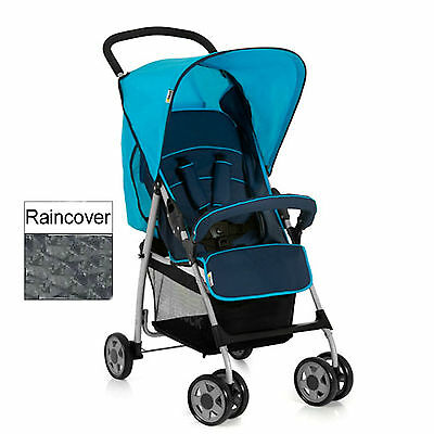 Hauck Moonlight / Capri Sport Pushchair Stroller With Raincover From Birth