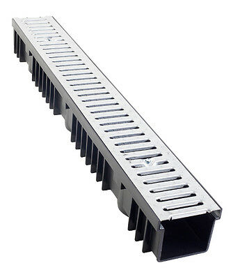 A15 Drainage Channel x 1m with Galvanised Grating