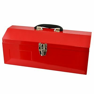430mm Portable Metal Tool Box Builders Garage Mechanics Storage Case TE870