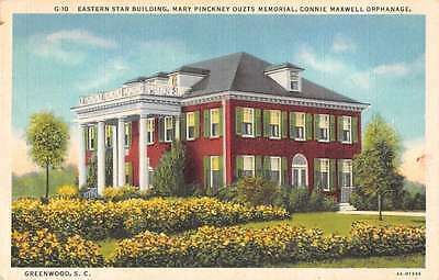 Greenwood South Carolina view of Connie Maxwell Orphanage antique pc Z25163