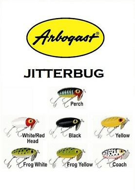 """Arbogast Jointed Jitterbug Choice of Colors Model G620 2-1//2"""" 3//8 oz"""