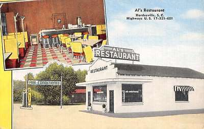 Hardeeville South Carolina Als Restaurant Multiview Antique Postcard K40992
