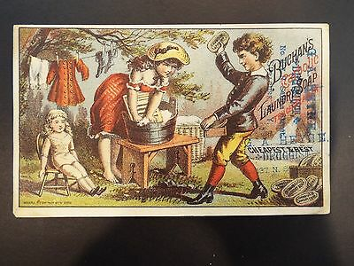 Buchan's Carbolic Laundry Soap Victorian Trade Card