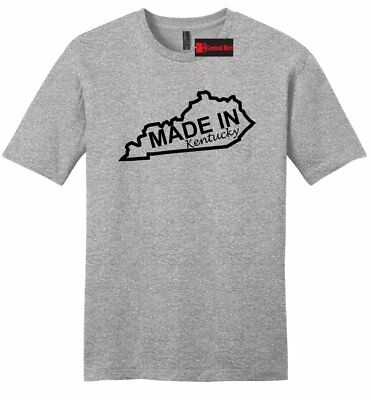 3068e4e1 Made In Kentucky Funny Mens Soft T Shirt Home State Pride Lucky Derby Tee Z2