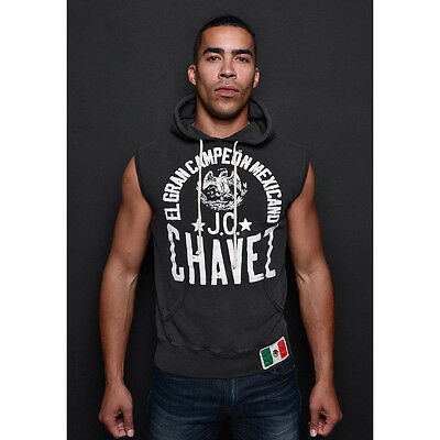 Roots of Fight Chavez El Gran Campeon Sleeveless Pullover Hoodie - Black