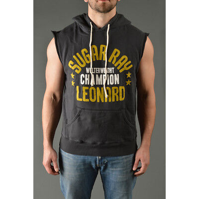 Roots of Fight Sugar Ray Leonard Sleeveless Pullover Hoodie - Black
