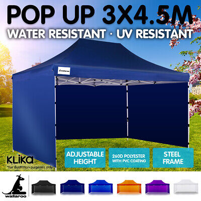 3x4.5m WALLAROO POP UP OUTDOOR GAZEBO FOLDING TENT PARTY MARQUEE SHADE CANOPY