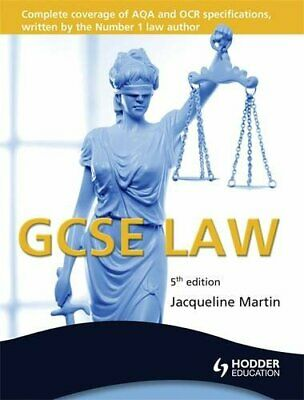 GCSE Law, 5th Edition (Gcse Teachers Book) by Martin, Jacqueline Book The Cheap