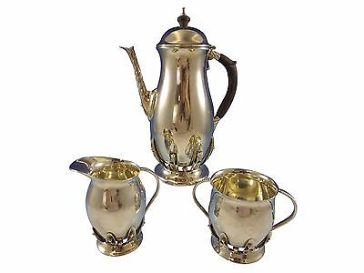 Blossom by Woodside Sterling Silver Coffee Set 3pc (#1265) Modernist Unique