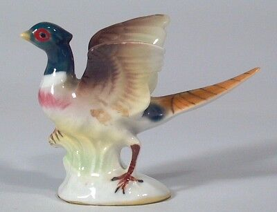"Vintage Miniature Bone China 2"" x 3"" Pheasant Bird Japan"