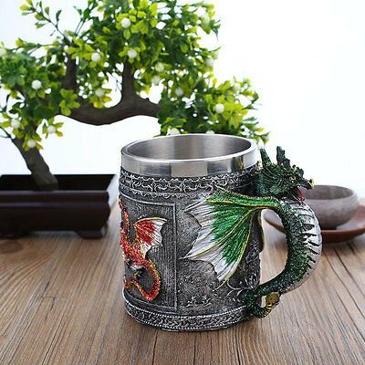 Creative Stainless Steel Dragon Designed Cups Kitchenware Mug Drinking Tools