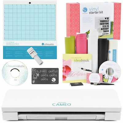 NEW!!! Silhouette Cameo V3 BLUETOOTH with Vinyl Starter Kit and Autoblade