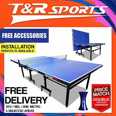 Black Surface 19Mm Pro Size Table Tennis Ping Pong Table Free Bats,balls & Net