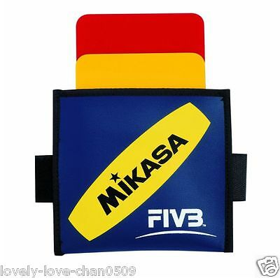 Mikasa JAPAN FIVB Volleyball Referee Cards Yellow/Red Judge