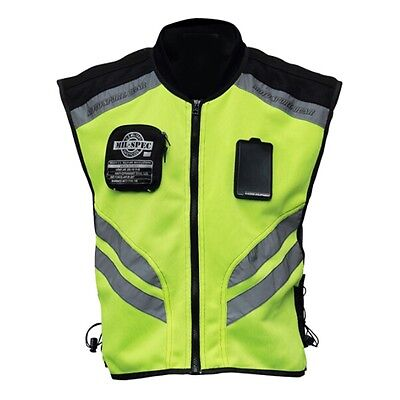 New Motorcycle Vest Safety Reflective Waistcoat Hi-Vis Motorbike Riding Clothes