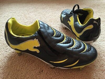 Puma Rugby Boots Union or League Black Yellow Uk Size 5.5