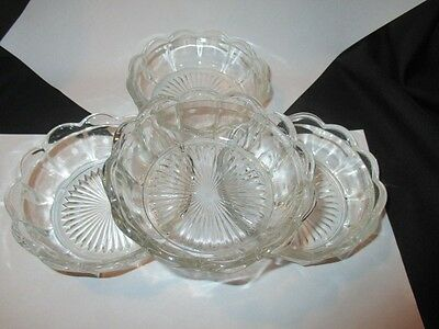 Eapg Glass Canadian Colonial Panel Dessert Custard Pudding Cup Bowls