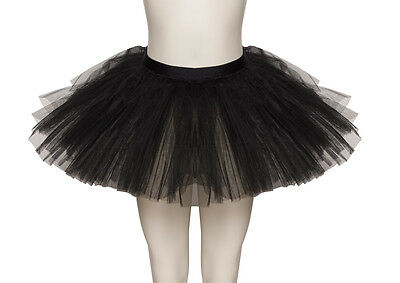 Black Premium Dance Ballet Tutu Skirt Childs & Ladies Sizes By Katz Dancewear
