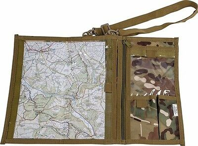 Highlander  Hc / Mtp Camouflage Army Style Explorer Folding Map Case Cadets Ccf