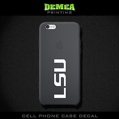 LSU - Cell Phone Vinyl Decal Sticker - iPhone - Choose Color (X2)
