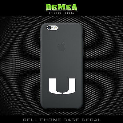Miami Hurricanes - Cell Phone Vinyl Decal Sticker - iPhone - Choose Color (X2)