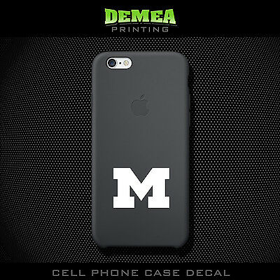 Michigan Wolverine - Cell Phone Vinyl Decal Sticker - iPhone - Choose Color (X2)