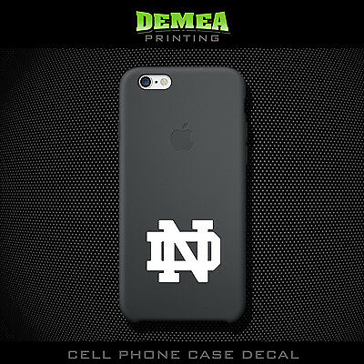 Notre Dame - Cell Phone Vinyl Decal Sticker - iPhone - Choose Color (X2)