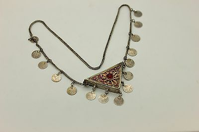 Antique Original Perfect Ottoman Silver Anatolian Islamic Necklase