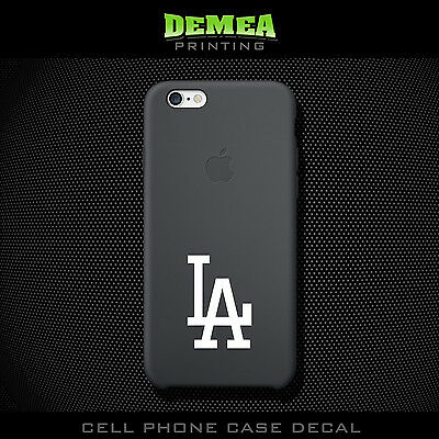 MLB LA Dodgers - Cell Phone Vinyl Decal Sticker - iPhone - Choose Color (X2)