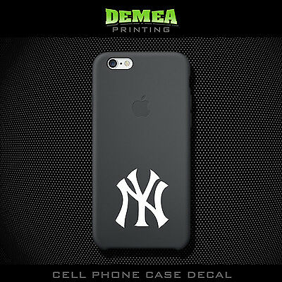 MLB NY Yankees - Cell Phone Vinyl Decal Sticker - iPhone - Choose Color (X2)