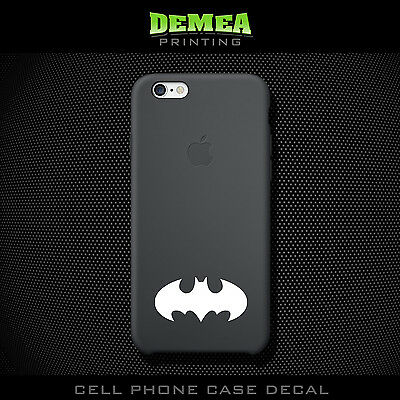 Batman - Cell Phone Vinyl Decal Sticker - iPhone - Choose Color (X2)