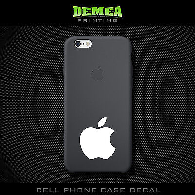 Apple - Cell Phone Vinyl Decal Sticker - iPhone - Choose Color (X2)