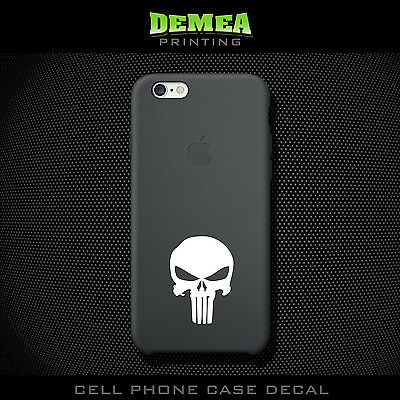 Punisher - Cell Phone Vinyl Decal Sticker - iPhone - Choose Color (X2)