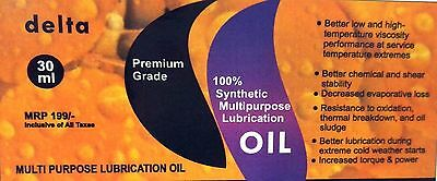 DELTA BRAND   100% Synthetic Oil for lubricating sewing Machines