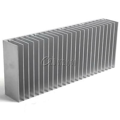 Silver Aluminum Heat Sink for IC LED Cooler Power Transistor 60x150x25mm