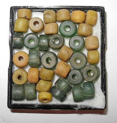 36 ANCIENT GLASS BEADS - from the AFRICAN TRADE, 800 AD +/- .. mb-7172
