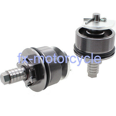 Gray Fork Caps with Preload Adjusters For Yamaha FZ6R FZ6 09 10 11 12 13 14 15