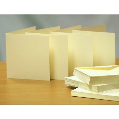 Card Craft Blank Ivory 3x3 4x4 5x5 6x6 7x7 225 gsm Cards & Envelopes