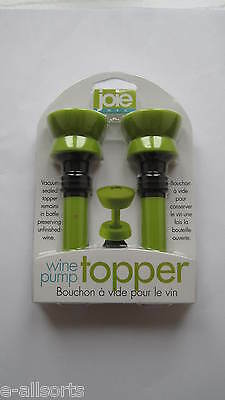 Joie Green Wine Pump Topper 2 In Pack New