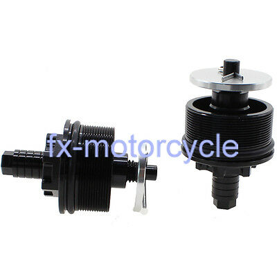 Black Fork Caps with Preload Adjusters For CB400 1992-1998 93 94 95 96 97